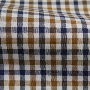 HTS 8413 - Small Gingham Navy Brown