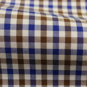 HTS 8414 - Small Gingham Brown Blue