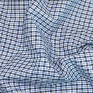 HTS 8456 - Easy-Iron Poplin French Blue Check