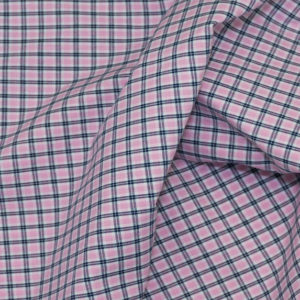 HTS 8457 - Easy-Iron Poplin Pink Check