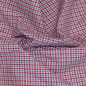 HTS 8459 - Easy-Iron Poplin Red Check