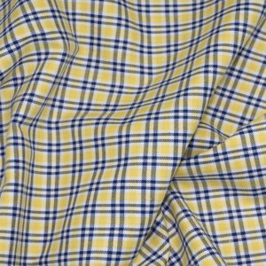 HTS 8478 - Easy-Iron Check Yellow/Navy Blue