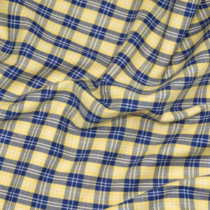 HTS 8490 - Easy-Iron Check Yellow/Navy Blue