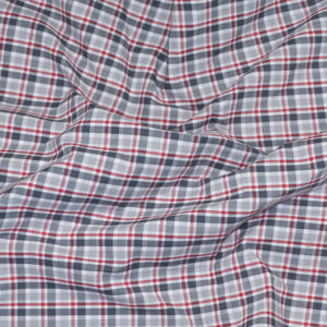 HTS 8494 - Easy-Iron Poplin Red/ Silver