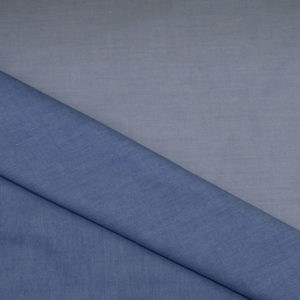 HTS 8531 - Easy Iron Two-Tone Twill Mid Blue/ French Blue