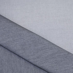HTS 8539 - Easy Iron Two-Tone Twill Silver/Dark Gray