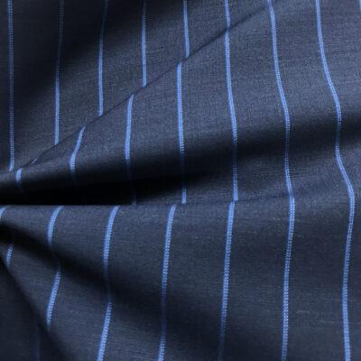 H2033 - Mid Navy W/ Light Blue Banker Stripe