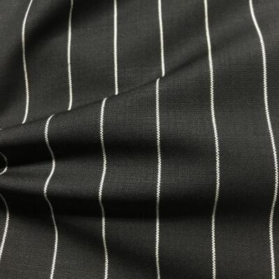 H2035 - Black W/ White Banker Stripe