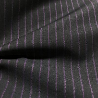 H2038 - Dark Navy W/ Purple Stripe and Pink Pin