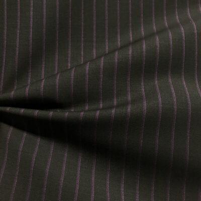 H2039 - Charcoal W/ Purple Stripe & Pink Pin