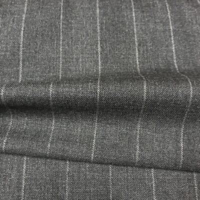 SAL12 - Grey W/ White Chalk Stripe