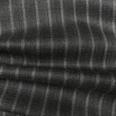 SAL17 - Dark Grey Herringbone W/ Fancy Pin