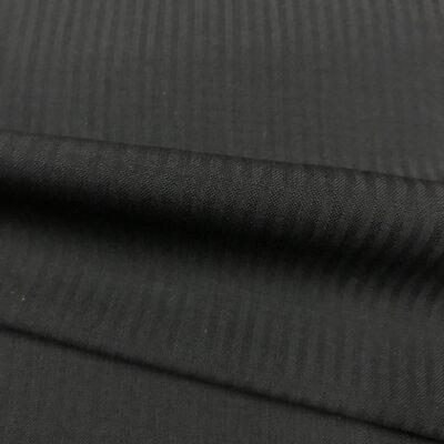 SAL23 - Ultrafine S120 Black Self Stripe All Wool