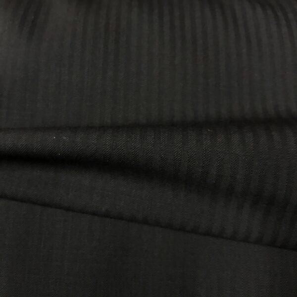 SAL24 - Ultrafine S120 Black Self Stripe All Wool