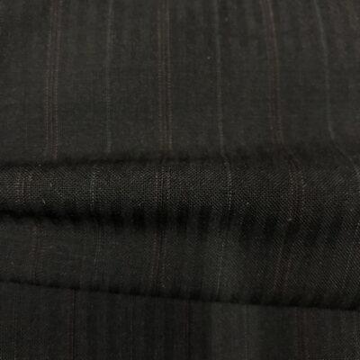 SAL29 - Superfine Kid Mohair Black Self Stripe W/ Pink and White Pin