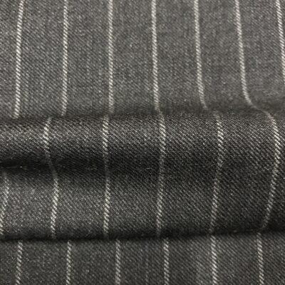 SAL35 - Pure New Wool Grey Chalk Stripe