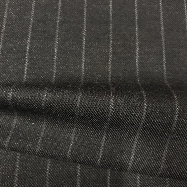 SAL36 - Pure New Wool Dark Grey W/ Chalk Stripe