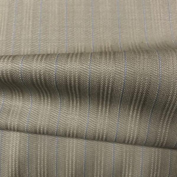 SAL50 - Merino Wool Fawn Herringbone W/ Sky Blue Pin
