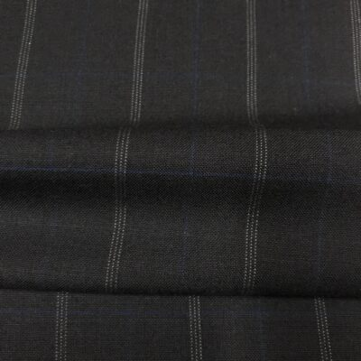 SAL54 - All Wool Navy W/ White Pin and Blue Overcheck