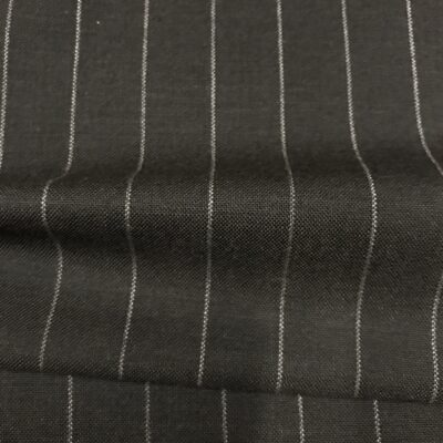 SAL55 - Merino Wool Charcoal W/ White Pin