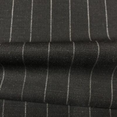 SAL58 - Merino Wool Charcoal W/ White Pin