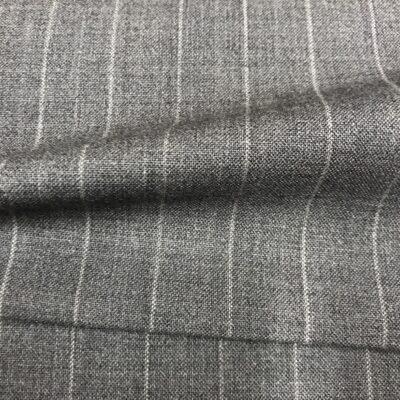 SAL59 - Extrafine 100% Merino Wool Light Grey W/ Whie Pin