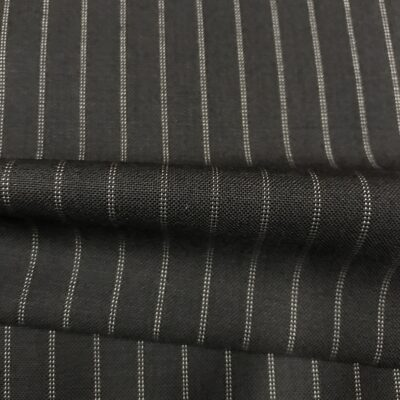 SAL60 - Extrafine 100% Merino Wool Black W/ Double White Pin