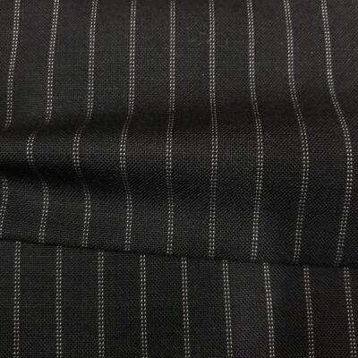 SAL61 - Extrafine 100% Merino Wool Navy W/ Double White Pin