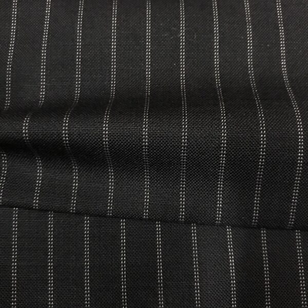SAL61 - Extrafine 100% Merino Wool Navy W/ Double White Pin