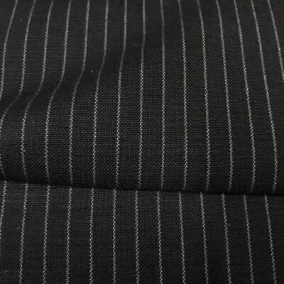 SAL65 - Extrafine 100% Merino Wool Navy W/ 2mm White Pin