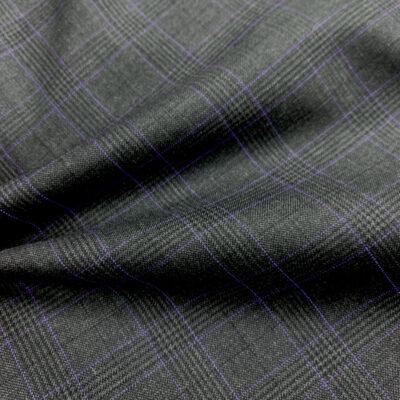 Grey POW Check W/ Purple Overcheck