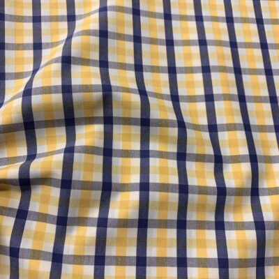 HTS41 - Yellow and Blue Gingham