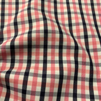 HTS42 - Pink and Navy Gingham
