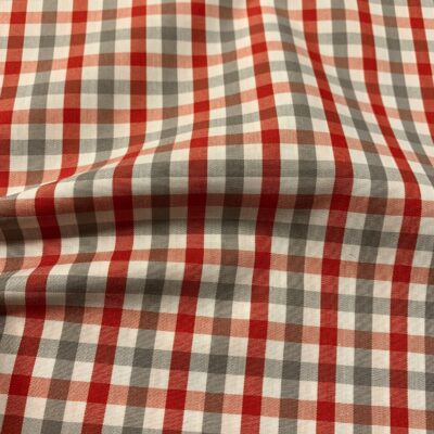 HTS43 - Grey and Red Gingham