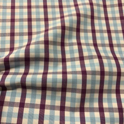 HTS45 - Purple and Light Blue Gingham