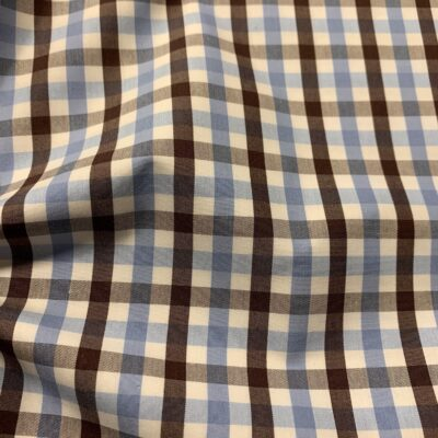 HTS46 - Brown and Light Blue Gingham