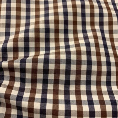 HTS47 - Brown and Navy Gingham