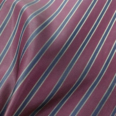 SAL90 - Maroon W/ Navy & Gold Thick Stripe Linen Poly Blend